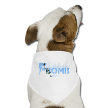 Load image into Gallery viewer, LIBERTY F-BOMB Dog Bandana - white