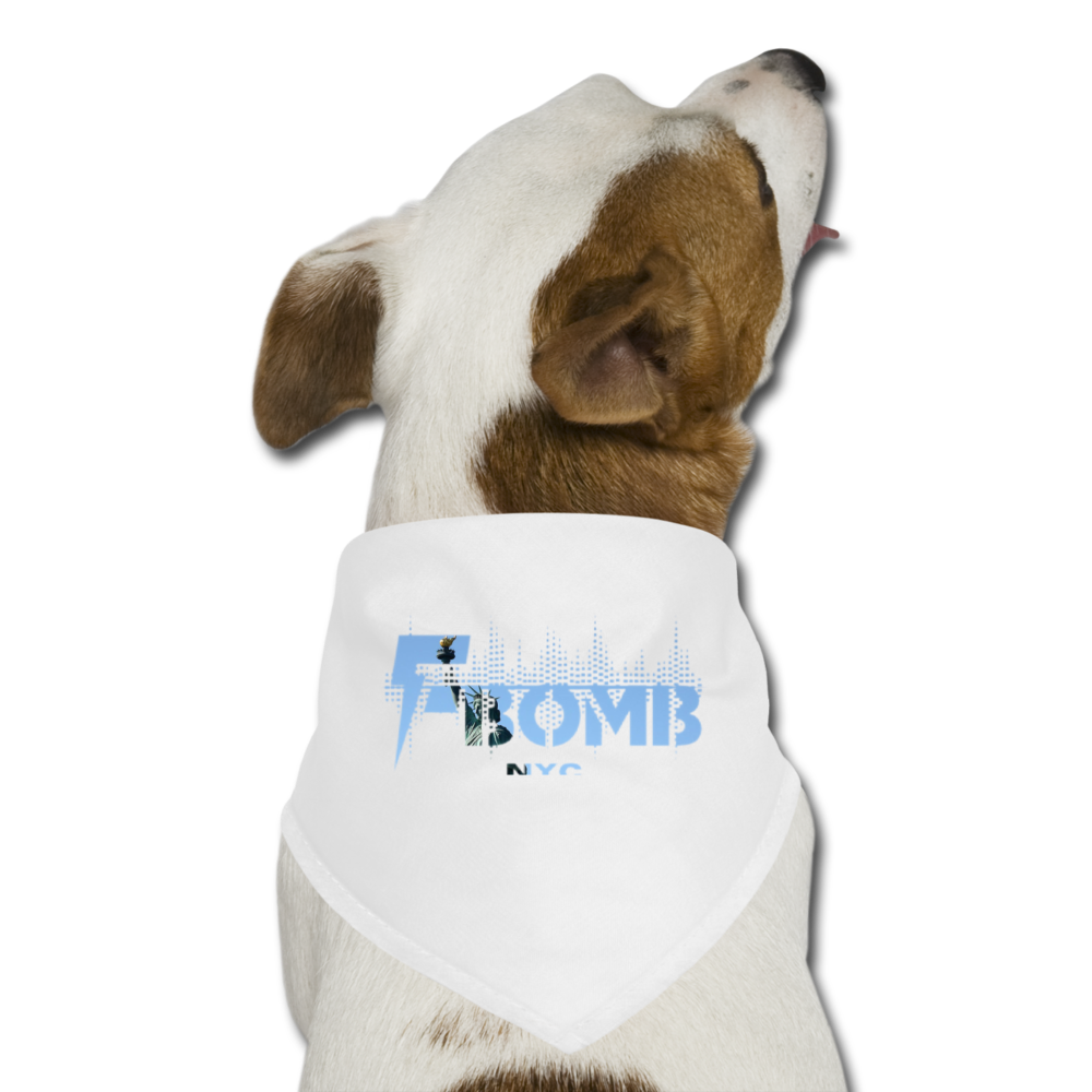 LIBERTY F-BOMB Dog Bandana - white