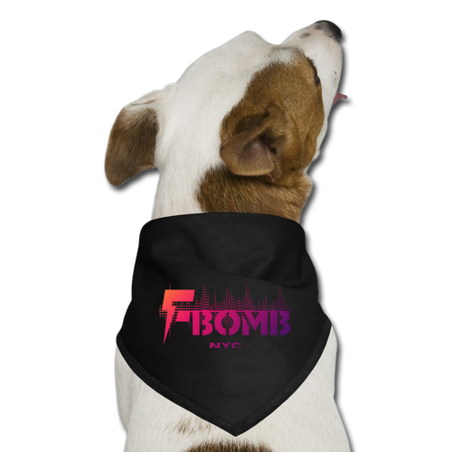 Sunset F-BOMB Dog Bandana - black