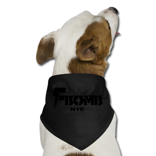 BLK F-BOMB Dog Bandana - black