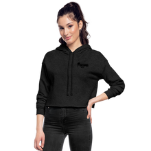 Load image into Gallery viewer, Women's F-BOMB BOLT Cropped Hoodie - deep heather