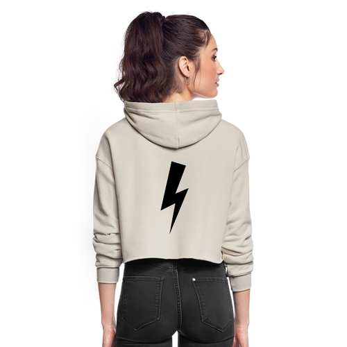 Women's F-BOMB BOLT Cropped Hoodie - dust