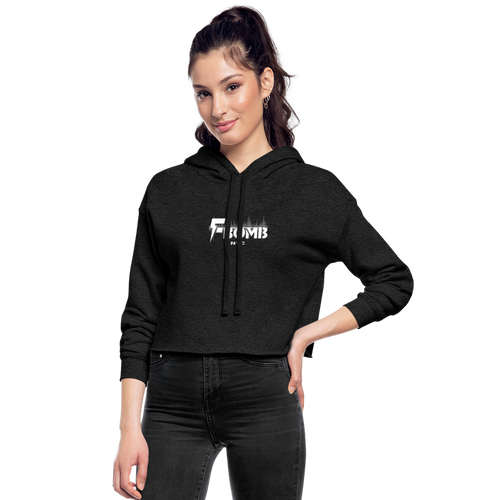 Women's F-BOMB BOLT Cropped Hoodie - deep heather