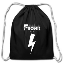 Load image into Gallery viewer, F-BOMB Cotton Drawstring Bag - black