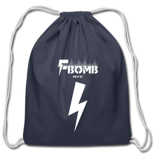 Load image into Gallery viewer, F-BOMB Cotton Drawstring Bag - navy