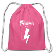 Load image into Gallery viewer, F-BOMB Cotton Drawstring Bag - pink