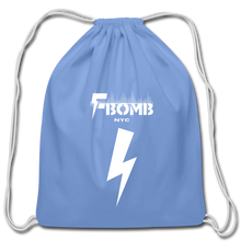 Load image into Gallery viewer, F-BOMB Cotton Drawstring Bag - carolina blue