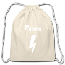 Load image into Gallery viewer, F-BOMB Cotton Drawstring Bag - natural