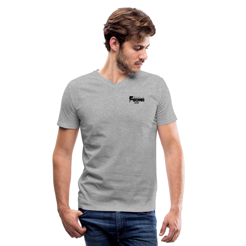 F-BOMB V-Neck T-Shirt - heather gray