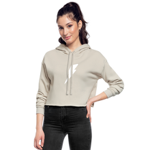 Load image into Gallery viewer, Women's F-BOMB BOLT Cropped Hoodie - dust