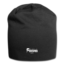 Load image into Gallery viewer, F-Bomb Jersey Beanie - black