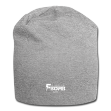 Load image into Gallery viewer, F-Bomb Jersey Beanie - heather gray