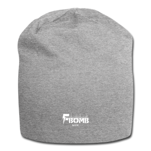 F-Bomb Jersey Beanie - heather gray