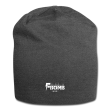 Load image into Gallery viewer, F-Bomb Jersey Beanie - charcoal gray