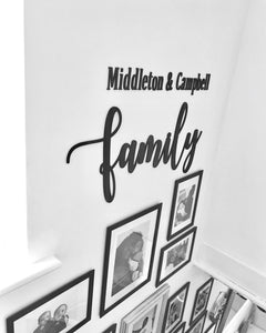 Large Family Wall Plaque
