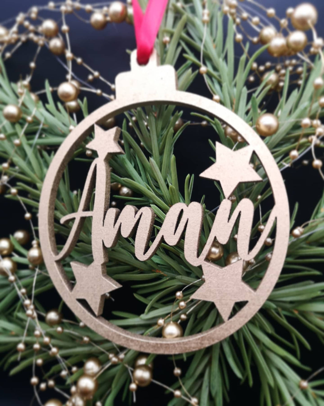 Personalized Star Bauble
