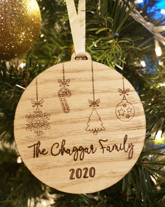 2020 Engraved Family Bauble