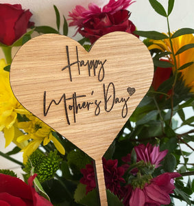 Happy Mother's Day bouquet message sticks