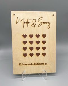 Anniversary gift plaque