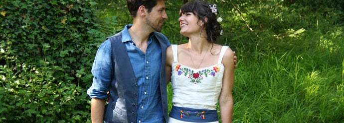 Handmade wedding: Lottie's beautiful hand-embroidered wedding dress
