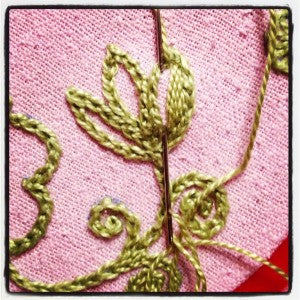 filling in Baranya embroidered tulip