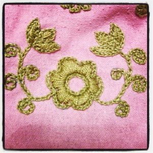 filled-in Baranya embroidered floral motif