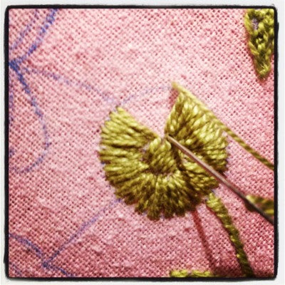 stabbing method of embroidery 1
