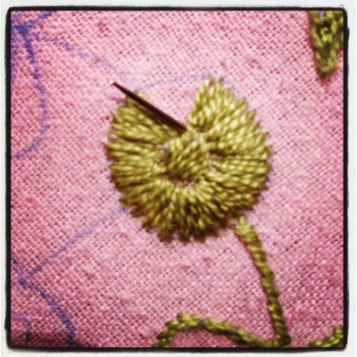 stabbing method of embroidery 2