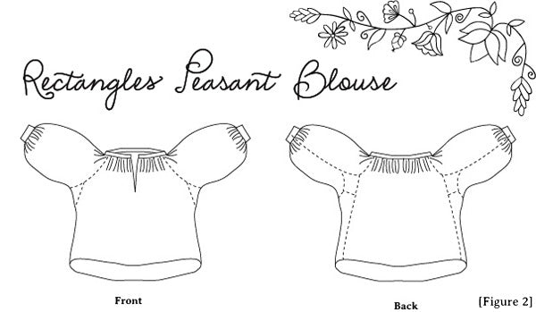 rectanglesPeasantBlouse