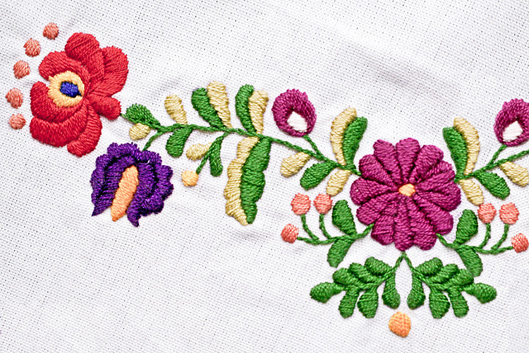 Faraway Garden with traditional stitching