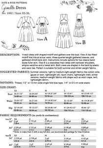 Giselle Dress PDF Sewing Pattern