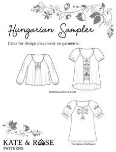Hungarian Sampler Embroidery Pattern