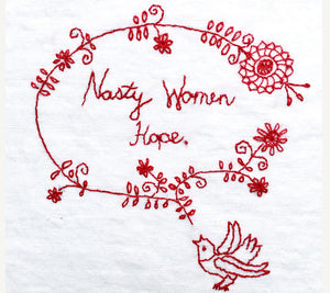Nasty Women Hope PDF Embroidery Pattern - Printable Series