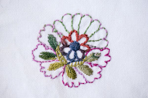 Cabbage Rose Fancy PDF Embroidery Pattern