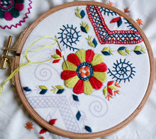 Load image into Gallery viewer, Floral Geometry PDF Embroidery Pattern