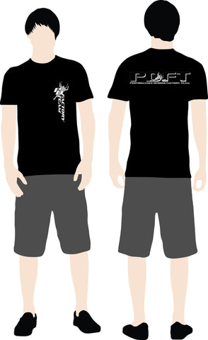 PD Factory Team T-shirt swooper logo
