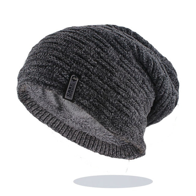 Men Fleece Warm Beanies