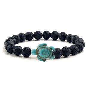Sea Turtle Beads Lava Rock Bracelets