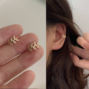 Gold Leaf Clip Earring