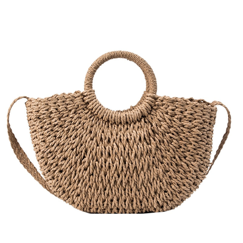 Casual Weave Straw Bag