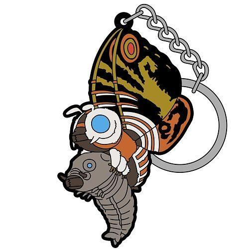 Godzilla Series: Mothra (Grown Insect) & Mothra (Baby Insect) Keychain