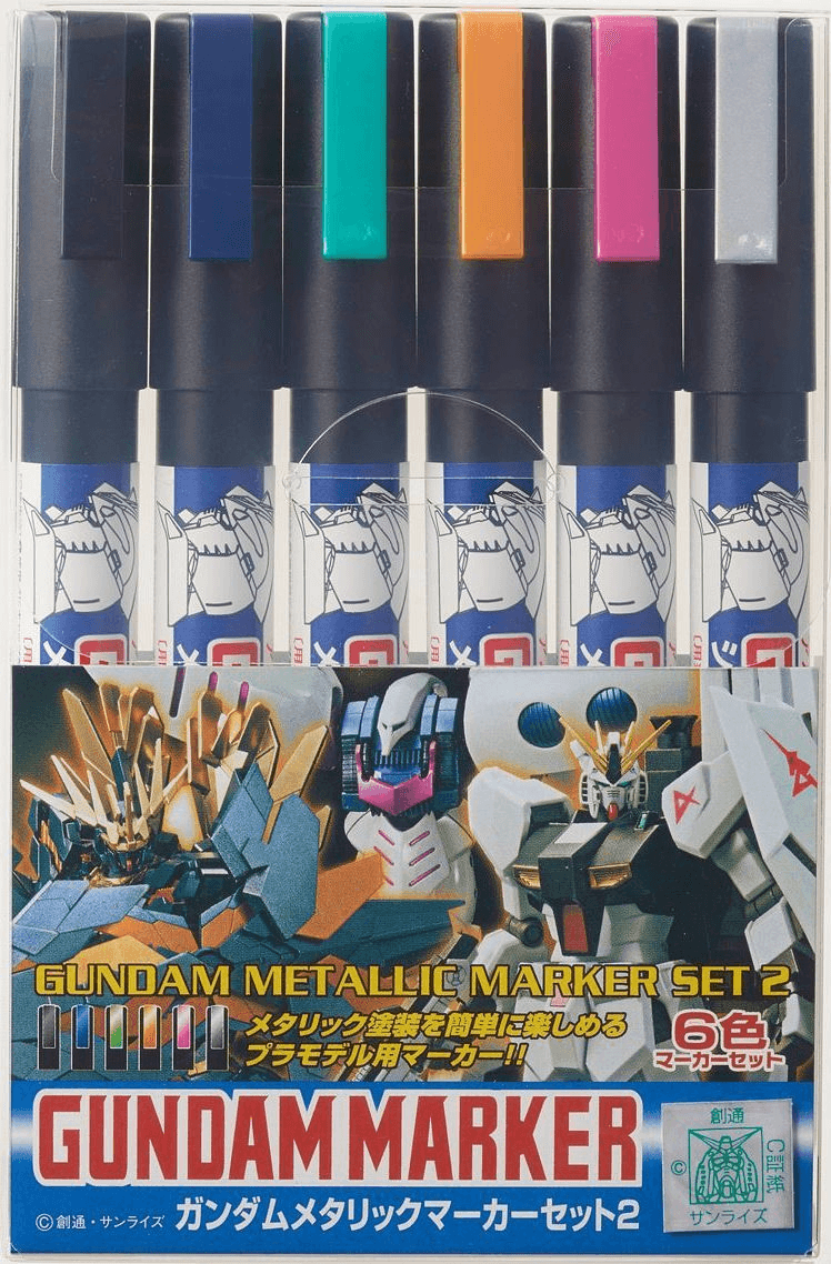 Gundam Metallic Marker Set 2