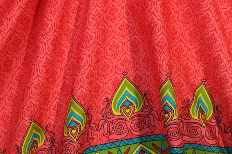 Red traditional printed cotton