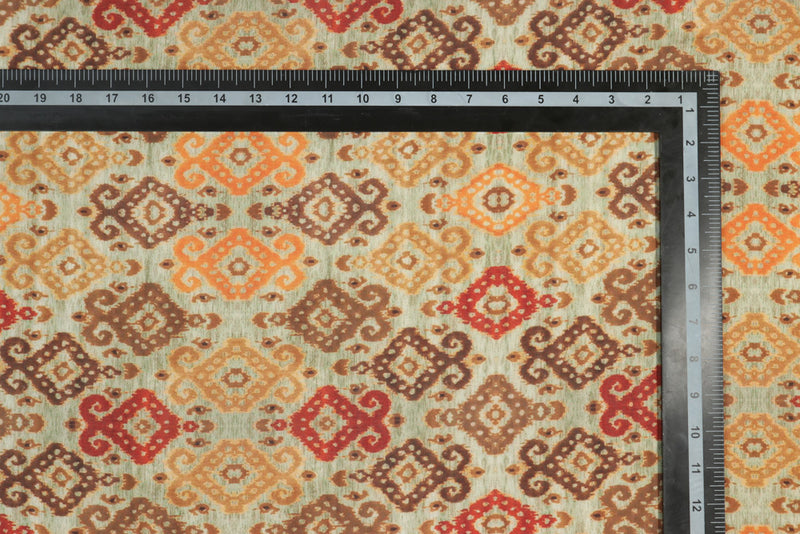 Tan brown bohemian printed rayon