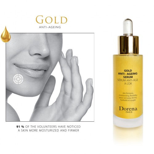 gold anti ageing serum from Dorena cosmetics made in France