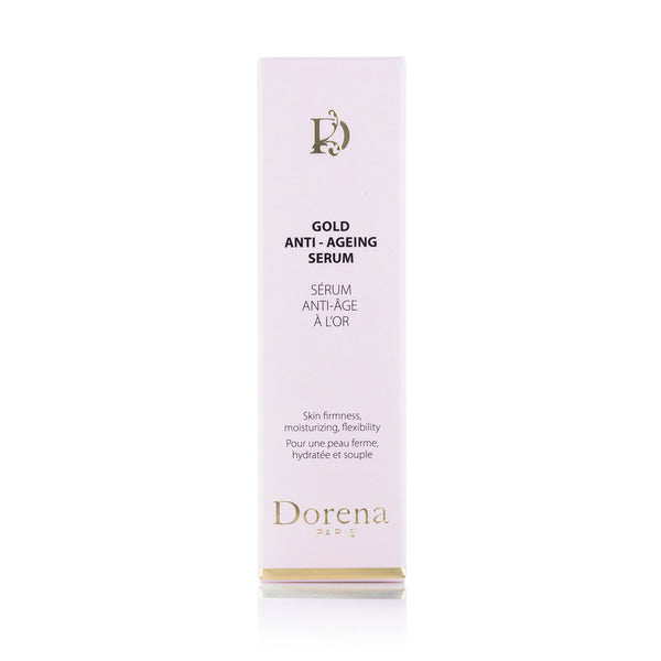 gold anti ageing serum box from Dorena cosmetics made in France