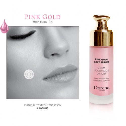pink gold face serum from Dorena cosmetics made in France
