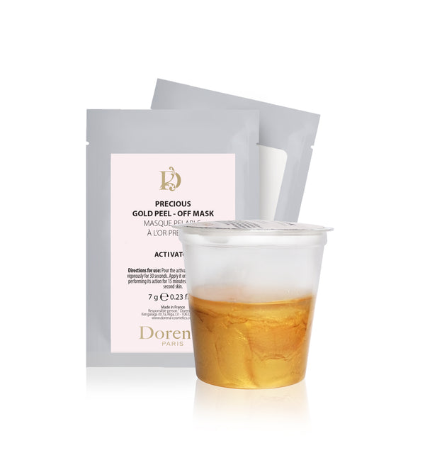 Precious gold peel off mask from Dorena cosmetics made in France.
