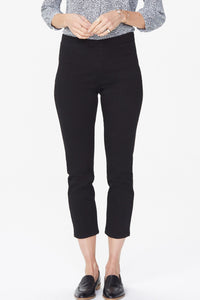 NYDJ Black Pull On Skinny Ankle Jeans