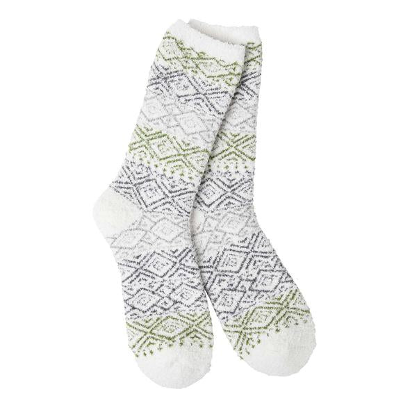 Blitz White Women's Socks